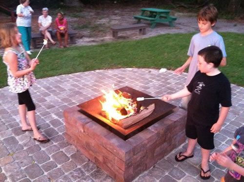 fire pit outside